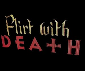 aesthetic, death, and flirt image