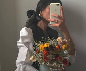 earrings, fashion, and flowers image