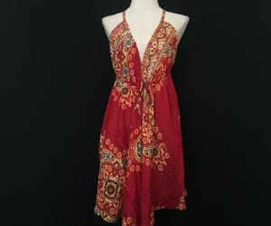 backless dress, etsy, and gypsy image