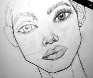 art, draw, and eyebrow image