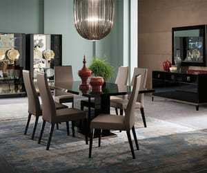 dining table, wooden dining table, and modern dining table image