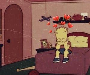 bart, sad, and break heart image