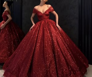 dress, style, and red image