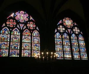 candles, cathedral, and colors image