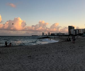 america, beach, and buildings image