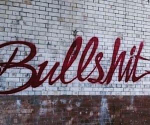 bullshit, wall, and art image
