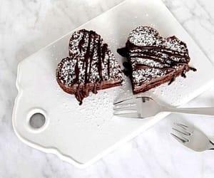 food, chocolate, and heart image