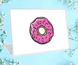 donut, laptop, and lovely image