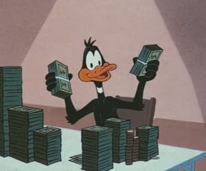 money, cartoon, and duck image
