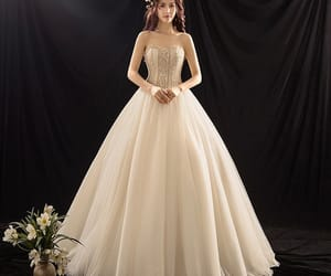 bridal, 2019, and sweetheart wedding dress image