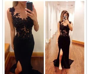 black prom dresses, lace prom dresses, and prom dresses sexy image