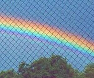 rainbow, header, and sky image