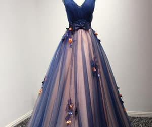 blue prom dresses, a-line prom dresses, and navy prom dresses image