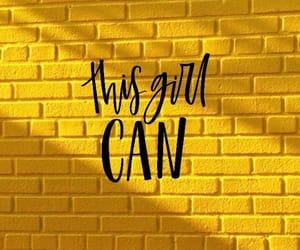 yellow, girl, and wallpaper image