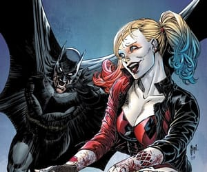 batman, bruce wayne, and harleen quinzel image