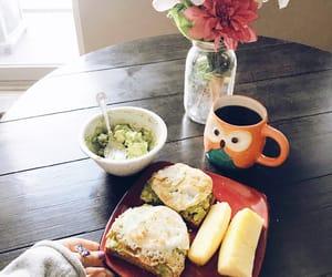 avocado, breakfast, and coffee image