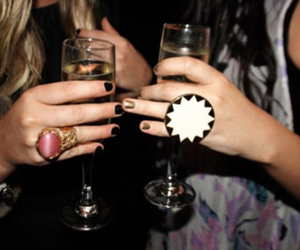 drink, fashion, and champagne image