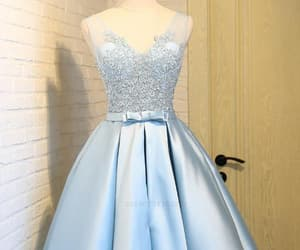 blue prom dresses, prom dresses a-line, and sleeveless prom dresses image