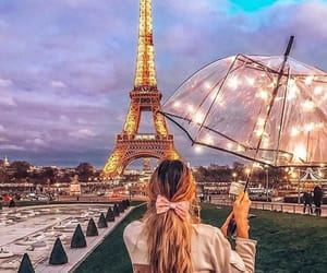 fashion, lights, and paris image