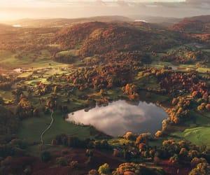 grafika autumn, beautiful, and landscape