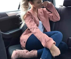 ankleboots, blazer, and jeans image