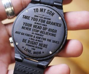 etsy, engraved wood watch, and son image