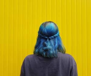 alternative, blue girl, and blue hair image