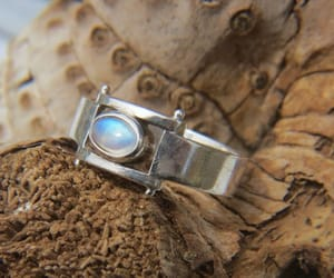 etsy, moonstone jewelry, and moonstonering image
