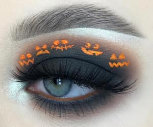autumn, eye makeup, and fall image