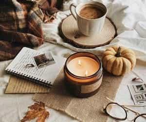 grafika autumn, fall, and candle