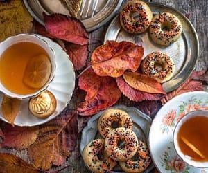 grafika autumn, tea, and cake