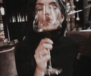 girl, wine, and drink image