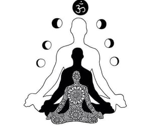 meditation, moon, and zen image