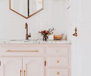 bathroom, gold, and house design image