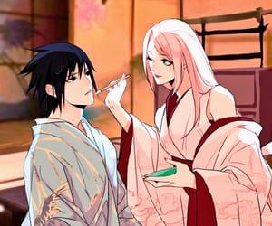 couple, naruto, and sakura image