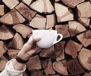 coffee, wood, and brown image