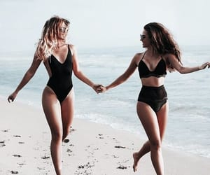 beach, friendship, and summer image