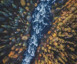 air view, autumn, and finland image