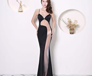 evening dress, evening dresses, and see through dress image