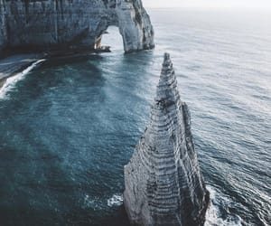 beach, france, and landscape image
