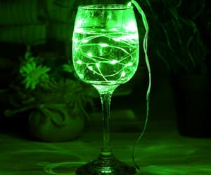 glass, neon, and light image