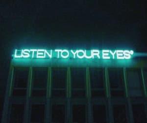 eyes, light, and neon light image