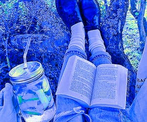 blue, book, and vibrant image