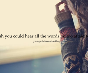 girl, sad, and quote image