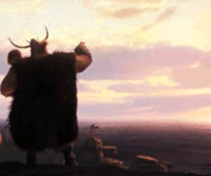 father, gif, and how to train your dragon image