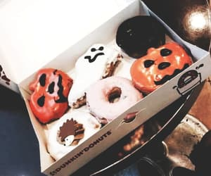 autumn, breakfast, and donuts image