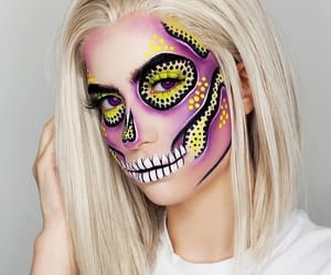 Halloween, make up, and artistic make up image