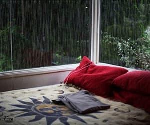 bedroom, gif, and rainy image