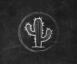 cactus, icons, and chalkboard art image