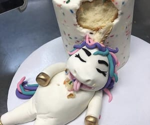 food, unicorn, and cake image